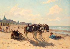 Louis Soonius (1883-1956) - Stranddag op Scheveningen.