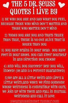 Love me some Dr. Seuss quotes!
