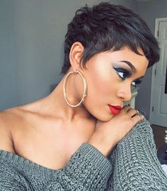 Perfect pixie @diamondmarett  Read the article here - http://blackhairinformation.com/hairstyle-gallery/perfect-pixie-diamondmarett/