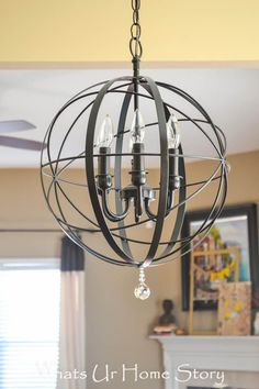 Make this DIY Orb chandelier tutorial for $40 - Whats Ur Home Story