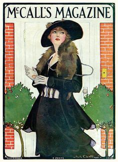 McCall's cover by Ruth Eastman, Nov 1915.  I remember going to Joann's with my aunts and looking through McCall's catalogues.