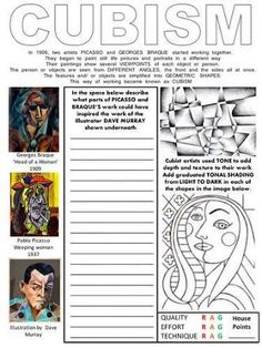 student art worksheets - Google Search