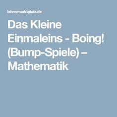 Das Kleine Einmaleins - Boing! (Bump-Spiele) – Mathematik