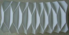 Trapezoid Pleating - Pleated Structures - Basic pleating patterns