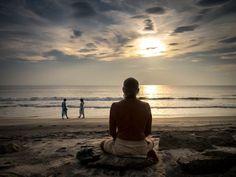 Meditating by the Arabian Sea