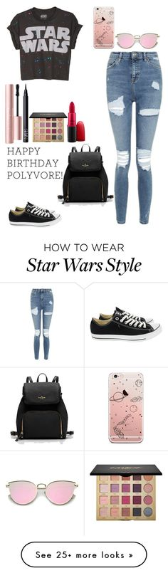"""""""Celebrate Our 10th Polyversary!"""" by madisonhuey on Polyvore featuring Topshop, Converse, tarte, MAC Cosmetics, NARS Cosmetics, Too Faced Cosmetics, polyversary and contestentry"""