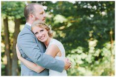 Woodsy wedding photos of bride and groom | Stonehenge Lodge wedding in PA