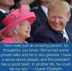 Queen Elizabeth II and President Donald Trump Pro Trump, Vote Trump, Bye Bye, Trump Quotes, The Great, Trump Is My President, Greatest Presidents, American Presidents, American Soldiers