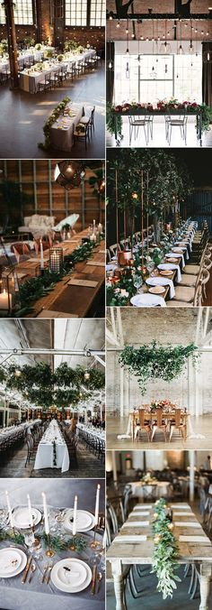 industrial themed wedding reception decoration ideas