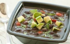 Simple Black Bean Soup  looks great and tasty