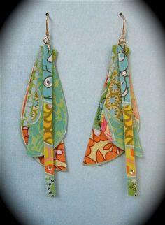 Laminate earrings