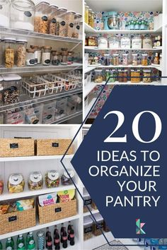 Determined to get your pantry organized? These brilliant pantry organization ideas will show you how to organize a pantry like a pro, no matter the size or shape! White Pantry, Open Pantry, Small Pantry Organization, Organization Ideas, Diy Home Decor On A Budget, Diy Home Decor Projects, Glass Storage Containers, Pantry Room, Pantry Shelving