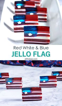 Want to make a cute and yummy treat for the Fourth of July? These cute little red white and blue jello flags are the perfect option for your event. American Spirit, American Flag, Holiday Recipes, Dinner Recipes, Holiday Desserts, Dessert Recipes, Glass Baking Pan, Blue Jello, Small Flags