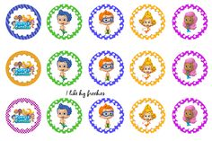 I like big freebies: Bubble Guppies bottle cap images