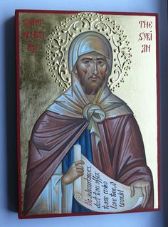 St. Ephraim the Syrian, hand painted orthodox icon by Georgi Chimev, Byzantine