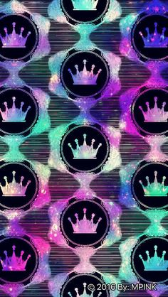 © 2016 Hipster Crown Pattern Wallpaper Created By Me