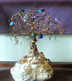 family birthstone tree, wire trees, mother gift, Family birthstone tree Couple Gifts, Gifts For Family, Wood Anniversary Gift, 8th Anniversary, Tree Of Life Art, Tree Art, Mother Daughter Jewelry, Gift For Lover, Lovers Gift