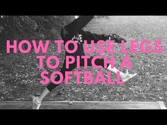 I have combined two of my favorite softball pitching drills here that really teaches pitchers how to use their legs from beginning to end. Through over exagg. Girls Softball, Softball Players, Softball Stuff, Girls Basketball, Softball Pitching Drills, Softball Workouts, Sport Quotes, Sports Sayings, Softball Pitcher