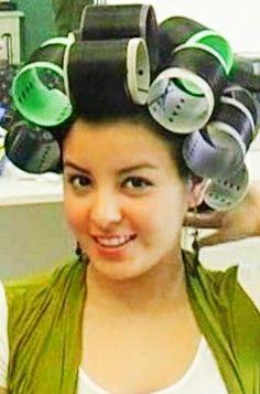 Big Hair Rollers, Roller Set, Hair Beauty, Curlers, Rollers In Hair, Cute Hair