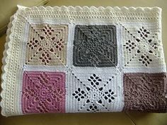 Victorian Lattice Square - free Pattern