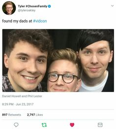 Tyler Oakley and Dan and Phil at VidCon 2017