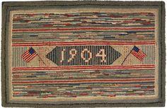 1904 American hooked rug
