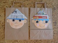 . Paper Shopping Bag, Fairy Tales, Reusable Tote Bags, How To Make, Crafts, Manualidades, Fairytale, Fairytail, Handmade Crafts