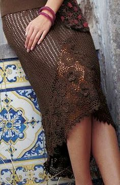 * The corner of Crafts Siry *: Skirts elegant crochet  with chart