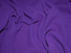 Fabulous Quality Purple Heavy Triple Crepe Designer Dress Fabric - per metre Preview