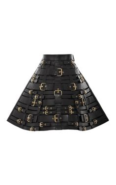 Shop Buckled Leather Harness Skirt by Fausto Puglisi for Preorder on Moda Operandi