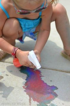 spray chalk recipe for kids