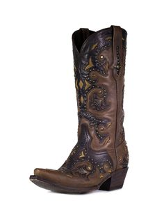 oh man, gorgeous. (with a gorgeous price tag to match) Lucchese Womens Studded Scarlet Cafe Brown Boot