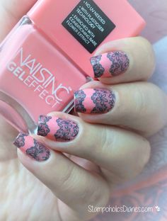 Lace Nails Stamping , Nails Inc Old park Lane, Qgirl-017
