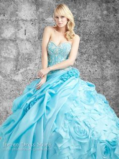 Ball Gown Sweetheart Neckline Floor length Sleeveless Organza Quinceanera Dress with Lace & Beading (SAS419)