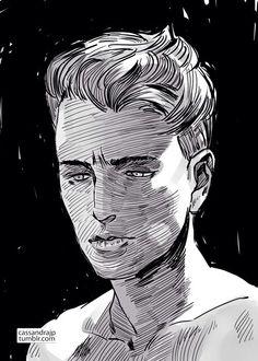 Adam Parrish 'Raven Boys' Art drawn by Cassandra Jean!