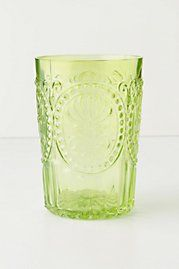 Love theses tinted glass tumblers from Anthro....if only I could afford a whole set! :)