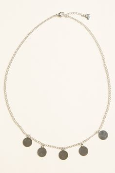 Brandy ♥ Melville | Silver Circle Charm Necklace - Accessories