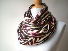 Extra large shawl Cozy Jersey Neckwarmer Fall by LarvaMade