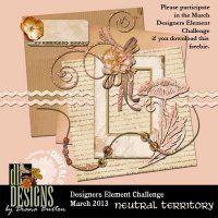 March Designer Elements Challenge Mini by @Diana Burton @Digitals