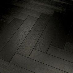 Herringbone Black Dark Oak 12mm Laminate Flooring Quality DIY Wood Underlay | eBay