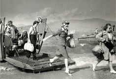 normandy landing that you didn't see. red cross workers. 1944.