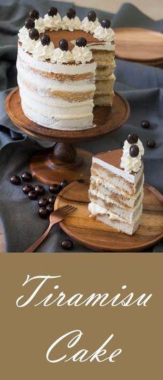 Tiramisu Cake just like the classic Italian Dessert put into a cake via Italian Desserts, Homemade Desserts, Classic Desserts, Easy Cake Recipes Cake Recipes From Scratch, Easy Cake Recipes, Cupcake Recipes, Baking Recipes, Cupcake Cakes, Dessert Recipes, Cupcakes, Picnic Recipes, Homemade Desserts