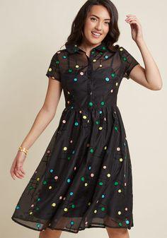 Doting on Dots Midi Shirt Dress