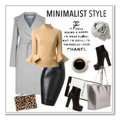 """""""Minimalist"""" by hellodollface ❤ liked on Polyvore featuring STELLA McCARTNEY, Mulberry, Forever 21, Clare V., David Koma, Chanel, Brunello Cucinelli and Minimaliststyle"""