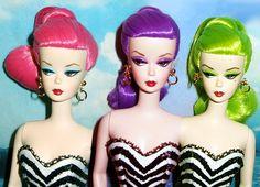 Barbie never gets old! Check out more of vintage barbie's timeless looks here! Bad Barbie, Barbie And Ken, Pink Barbie, Steam Punk, Festivals, Love Vintage, Vintage Hair, Vintage Decor, Vintage Photos