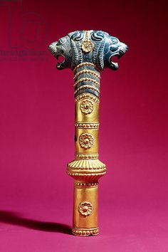 Cylindrical Socket, Median or early Achaemenian period (gold & lapis lazuli) Creator     Persian School, (c.7th-6th century BC)