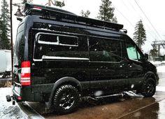 RV Gear Hauler - El Kapitan - Van Conversion - Huntington Beach, California Mercedes Sprinter Van 144 4x4