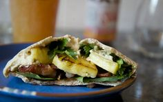 Try this #tropical #foodinspiration to remind you of warmer days.   Just fill a pita with bacon, grilled pineapple, lettuce, cilantro, and your favorite #RootsHummus for an instant taste of #summer!  Even if it's technically 6 ingredients, it's totally worth it! ;) #hummus #ftw