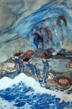 ♒ Mermaids Among Us ♒ art photography paintings of sea sirens & water maidens - Edmund Dulac | The Tempest