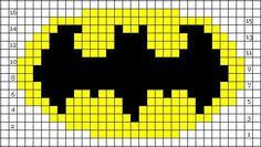 Batman logo intarsia chart